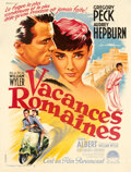 "Movie Posters:Romance, Roman Holiday (Paramount, 1954). Very Fine- on Linen. French Grande (47.75"" X 63"") Roger Soubie Artwork.. ..."