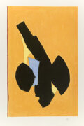 Prints & Multiples, Robert Motherwell (1915-1991). Delos, 1991. Lithograph in colors on TGL handmade paper. 36-1/2 x 23-3/8 inches (92.7 x 5...
