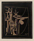 Prints & Multiples, Pablo Picasso (1881-1973). Tête, 1963. Linocut in colors on Arches paper. 25-1/4 x 20-3/4 inches (64.1 x 52.7 cm) (image...