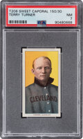 Baseball Cards:Singles (Pre-1930), 1909-11 T206 Sweet Caporal 150/30 Terry Turner PSA NM 7. ...