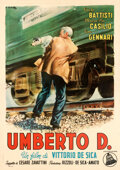 Movie Posters:Foreign, Umberto D. (Dear Film, 1952). Very Fine+ on Linen....