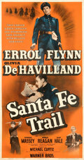 Movie Posters:Western, Santa Fe Trail (Warner Bros., 1940). Fine on Linen.