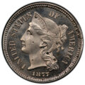 Proof Three Cent Nickels, 1877 3CN -- Environmental Damage -- PCGS Genuine. Proof, Unc Details. Mintage 900....