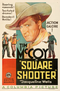 """Square Shooter (Columbia, 1935). Fine+ on Linen. One Sheet (27"""" X 41"""")"""