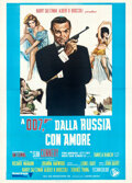 """Movie Posters:James Bond, From Russia with Love (United Artists, R-1970s). Folded, Very Fine-. Italian 4 - Fogli (55.25"""" X 77.75"""").. ..."""