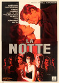 "Movie Posters:Foreign, La Notte (Dino de Laurentiis, 1961). Very Fine on Linen. Italian 4 - Fogli (54"" X 76.5"") Giuliano Nistri Artwork.. ..."