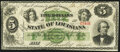 Obsoletes By State:Louisiana, New Orleans, LA- State of Louisiana $5 Jan. 20, 1867 Cr. 25 About Uncirculated.. ...