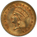 1883 G$1 MS62 PCGS. CAC. PCGS Population: (83/565 and 0/37+). NGC Census: (72/313 and 1/12+). CDN: $500 Whsle. Bid for N...