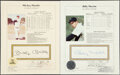 Baseball Collectibles:Publications, Mickey Mantle & Billy Martin Single Signed Stat Sheets, Lot of 2. ... (Total: 2 items)