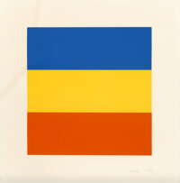 Ellsworth Kelly (1923-2015) Blue/Red/Yellow, 1992 Lithograph in colors on Rives BFK paper 26 x 25