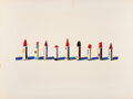 Prints & Multiples, Wayne Thiebaud (b. 1920). Lipstick Row, from Seven Still Lifes and a Rabbit, 1970. Screenprint in colors on Arches p...