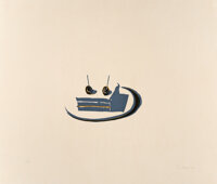 Wayne Thiebaud (b. 1920) Sandwich, from Seven Still Lifes and a Rabbit, 1970 Linocut in c