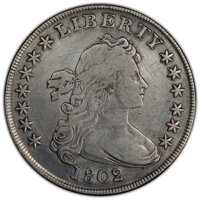1802/1 $1 Wide Date, B-2, BB-233, R.4 -- Repaired -- PCGS Genuine. Fine Details....(PCGS# 40093)