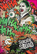 "Movie Posters:Action, Suicide Squad (Warner Bros., 2016). Rolled, Very Fine/Near Mint. Bus Shelter (47.5"" X 70"") Advance, Joker Style. Action.. ..."
