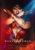 "Movie Posters:Action, Wonder Woman (Warner Bros., 2017). Rolled, Very Fine+. Bus Shelter (48"" X 70"") Advance. Action.. ..."