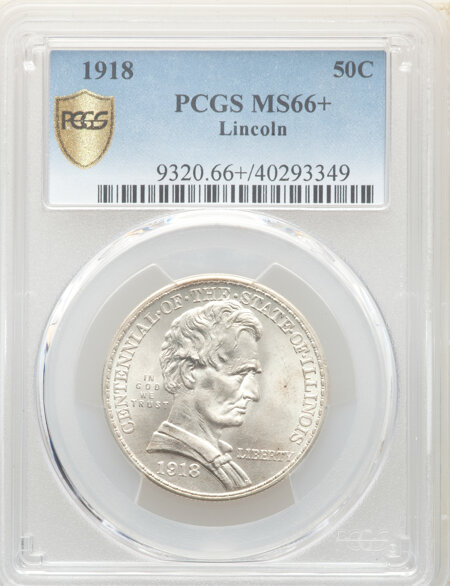 1918 50C Lincoln, MS PCGS Secure PCGS Plus 66 PCGS