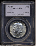 Kennedy Half Dollars: , 1968-D MS66 PCGS. ...