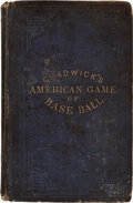 """Baseball Collectibles:Publications, 1868 """"The Game of Base Ball"""" by Henry Chadwick...."""