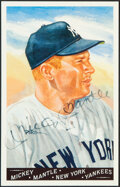 Autographs:Post Cards, 1990 Mickey Mantle Signed Perez-Steele Postcard. ...