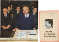 Edged Weapons, Andrei Gromyko Signed Photo and Maxim Litvinov Signed Card. ...
