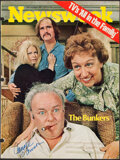 "Autographs:Photos, 1971 ""All In The Family"" Main Cast Multi-Signed Newsweek Cover...."