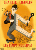 Movie Posters:Comedy, Modern Times (United Artists, R-Late 1950s). Fine/Very Fin...