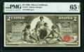 Large Size:Silver Certificates, Fr. 247 $2 1896 Silver Certificate PMG Gem Uncirculated 65 EPQ.. ...