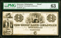Wilmington, DE- Union Bank of Delaware $1 18__ as G2 Proof PMG Choice Uncirculated 63