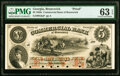 Brunswick, GA- Commercial Bank of Brunswick $5 18__ G6a Proof PMG Choice Uncirculated 63 EPQ