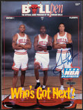 """Basketball Collectibles:Programs, 1996 Scottie Pippen Signed """"BullPen"""" Playoff Program...."""