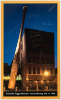 Autographs:Photos, 1996 Louisville Slugger Museum Grand Opening Multi-Signed Poster....