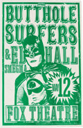 Music Memorabilia:Posters, Butthole Surfers Fox Theatre Concert Poster Signed by Designer Mike King (1990s)....