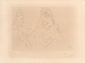 Prints & Multiples, Pablo Picasso (1881-1973). Deux femmes III, 1965. Drypoint on paper. 9 x 13 inches (22.9 x 33 cm) (image). 13-1/8 x 17-3...