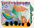 Prints & Multiples, David Hockney (b. 1937). Slow Rise, 1993. Lithograph and screenprint in colors on Arches 88 wove paper. 25 x 30-3/4 inch...