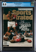 Boxing Collectibles:Memorabilia, 1999 Muhammad Ali & Sonny Liston Sports Illustrated Magazine CGC 8.0, Pop One With Two Higher...
