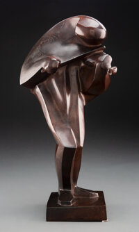 After Ferdinand Parpan (French, 1902-2004) Violinist Bronze 16-1/2 inches (41.9 cm) Ed. 2/8