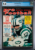 Football Collectibles:Publications, 1969 Pro Football Sports Special Joe Namath Cover - CGC 9.0....