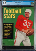 Football Collectibles:Publications, 1952 Football Stars Magazine with Harry Agganis Cover - CGC 8.0....