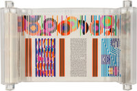 Yaacov Agam (b. 1928) Megillah (Scroll of Esther), circa 1980 Serigraph on parchment arranged in 11