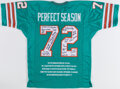 Autographs:Jerseys, 1972 Miami Dolphins Team Signed Undefeated Season Reunion Jersey. ...