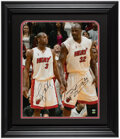 Autographs:Photos, Shaquille O'Neal and Dwyane Wade Dual-Signed Oversized Photograph. ...