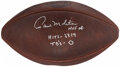 Autographs:Footballs, Paul Molitor Signed & Inscribed Football. ...