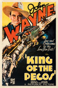 "Movie Posters:Western, King of the Pecos (Republic, 1936). Fine/Very Fine on Linen. One Sheet (27"" X 41"").. ..."