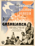 Movie Posters:Academy Award Winners, Casablanca (Warner Bros., 1947). Fine/Very Fine on Linen.