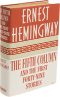 Books:Signed Editions, Ernest Hemingway. The Fifth Column and the First Forty-Nine Stories. New York: Charles Scribner's Sons, 1938. First ...