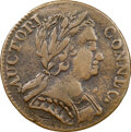 1785 CONNCT Connecticut, Mailed Bust Right, M. 1-E, W-2300, R.4, VF30 NGC. 152.8 grains. Weights of the Connecticut copp...