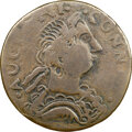 Colonials, 1786 COPPER Connecticut, Mailed Bust Right, Large Head, Similar to M. 2.3-T, W-2485, R.8, Fine 15 NGC. 124.1 grains. This p...