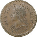 Colonials, 1787 Connecticut, Laughing Head, M. 6.1-M, W-2820, R.1, MS63 Brown NGC. An exceptional Choice Mint State piece that serves a...