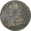 Colonials, 1787 Connecticut, Mailed Bust Left, M. 3-G.1, W-2805, R.6, VF30 NGC. 89.7 grains per the Taylor catalog; 135.9 grains per th...