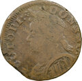 Colonials, 1787 Connecticut, Mailed Bust Left, M. 8-a.1, W-2845, R.8, Fine 12 NGC. 142.8 grains. Obverse 8 is known with reverse...